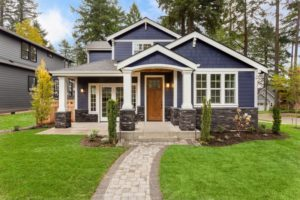 home with beautiful exterior paint and high home value